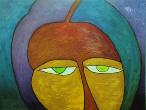 Mysterious Smile 45x60 oil on canvas