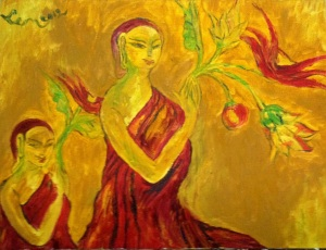 Offering with Flowers 60X45 cm oil on canvas 2012