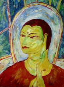 A Holy Saint 60X45 cm oil on canvas 2012