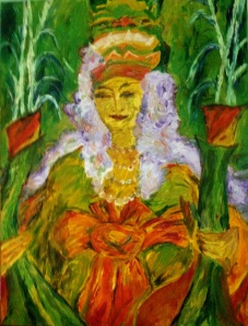 Green Mother Goddess of Mount Popa 60X45 cm oil on canvas 2012