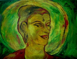 Lord Buddha 60X45 cm oil on canvas 2012
