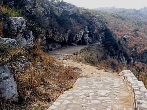 Rajgir_SaptaparniCave_pathway